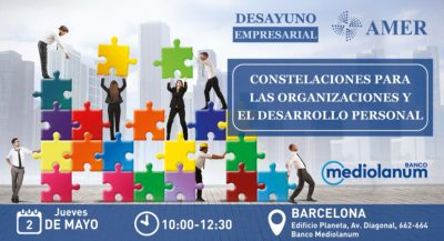 """Desayuno empresarial """"Constelaciones para las organizaciones y el desarrollo personal"""""""